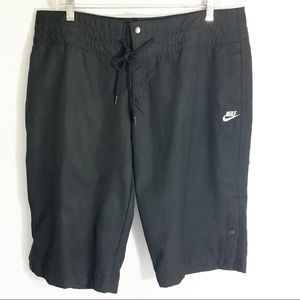 Nike Bermuda Drawstring Shorts Black Size L